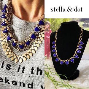 🌸Stella&Dot🌸 Blue/Gold Lottie Statement Necklace
